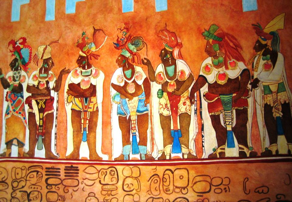 The best preserved classic maya paintings are at the for Bonampak mural painting
